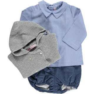 Amaia Kids - Mallard shirt (Blue mini-vichy)