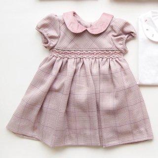 <img class='new_mark_img1' src='https://img.shop-pro.jp/img/new/icons20.gif' style='border:none;display:inline;margin:0px;padding:0px;width:auto;' />20%OFF!! - Malvi & Co.(ISI baby) - Tartan smocked dress (Pink)