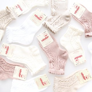 <img class='new_mark_img1' src='https://img.shop-pro.jp/img/new/icons14.gif' style='border:none;display:inline;margin:0px;padding:0px;width:auto;' />Condor - Perle openwork short socks
