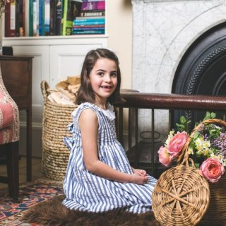 <img class='new_mark_img1' src='https://img.shop-pro.jp/img/new/icons20.gif' style='border:none;display:inline;margin:0px;padding:0px;width:auto;' />30%OFF Amaia Kids - Poppy dress (Blue Stripe)