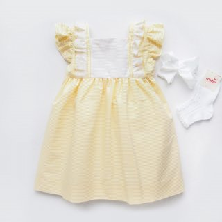 <img class='new_mark_img1' src='https://img.shop-pro.jp/img/new/icons20.gif' style='border:none;display:inline;margin:0px;padding:0px;width:auto;' />30%OFF Amaia Kids SS19 - Sonia dress (Yellow)