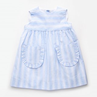 <img class='new_mark_img1' src='https://img.shop-pro.jp/img/new/icons20.gif' style='border:none;display:inline;margin:0px;padding:0px;width:auto;' />30%OFF Amaia Kids SS19 - Lea dress (Blue Stripe)