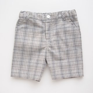 <img class='new_mark_img1' src='https://img.shop-pro.jp/img/new/icons20.gif' style='border:none;display:inline;margin:0px;padding:0px;width:auto;' />10%OFF Malvi & Co. - Boys tartan shorts (Beige / Grey)