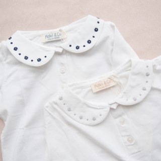 <img class='new_mark_img1' src='https://img.shop-pro.jp/img/new/icons20.gif' style='border:none;display:inline;margin:0px;padding:0px;width:auto;' />20%OFF!! - Malvi & Co. - Flower polo (Grey/Navy)