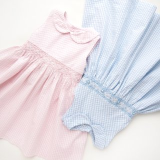 <img class='new_mark_img1' src='https://img.shop-pro.jp/img/new/icons14.gif' style='border:none;display:inline;margin:0px;padding:0px;width:auto;' />Malvi & Co. - Gingham smocked dress (Pink)