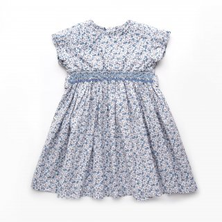 <img class='new_mark_img1' src='https://img.shop-pro.jp/img/new/icons14.gif' style='border:none;display:inline;margin:0px;padding:0px;width:auto;' />Malvi & Co. - Flower smocked dress (Blue & Brown)