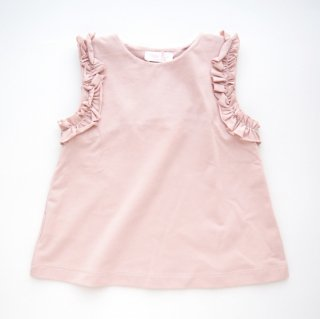 <img class='new_mark_img1' src='https://img.shop-pro.jp/img/new/icons14.gif' style='border:none;display:inline;margin:0px;padding:0px;width:auto;' />Malvi & Co. - Ruffle Sleeveless T-shirt (Pink / Navy)