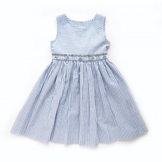 <img class='new_mark_img1' src='https://img.shop-pro.jp/img/new/icons14.gif' style='border:none;display:inline;margin:0px;padding:0px;width:auto;' />Malvi & Co. - Stripy smocked girl sleeveless dress (Red/Navy/Turquoise)