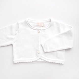 <img class='new_mark_img1' src='https://img.shop-pro.jp/img/new/icons14.gif' style='border:none;display:inline;margin:0px;padding:0px;width:auto;' />Malvi & Co. - Scallop cotton Bolero (White/Capli blue)