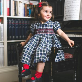 <img class='new_mark_img1' src='https://img.shop-pro.jp/img/new/icons14.gif' style='border:none;display:inline;margin:0px;padding:0px;width:auto;' />Amaia Kids - Shirley dress (Tartan)