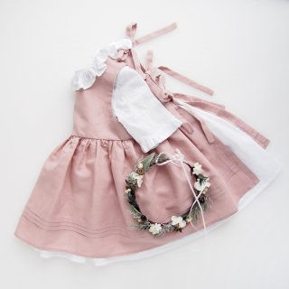 <img class='new_mark_img1' src='https://img.shop-pro.jp/img/new/icons14.gif' style='border:none;display:inline;margin:0px;padding:0px;width:auto;' />Camellia boutique - Apron and plumetti half sleeve dress (Dusty pink / Mint green)