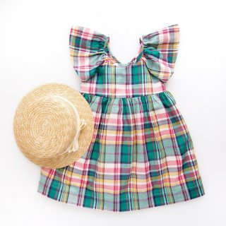 <img class='new_mark_img1' src='https://img.shop-pro.jp/img/new/icons14.gif' style='border:none;display:inline;margin:0px;padding:0px;width:auto;' />Amaia Kids - Kaya dress (Green check)