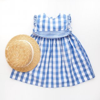 <img class='new_mark_img1' src='https://img.shop-pro.jp/img/new/icons14.gif' style='border:none;display:inline;margin:0px;padding:0px;width:auto;' />Amaia Kids - Marylin dress (Blue gingham)