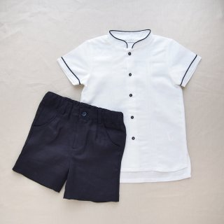 <img class='new_mark_img1' src='https://img.shop-pro.jp/img/new/icons14.gif' style='border:none;display:inline;margin:0px;padding:0px;width:auto;' />baby lai - Linen boy set up (Navy)