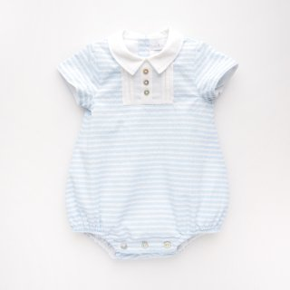 <img class='new_mark_img1' src='https://img.shop-pro.jp/img/new/icons14.gif' style='border:none;display:inline;margin:0px;padding:0px;width:auto;' />baby lai - Stripy romper (Pale blue)