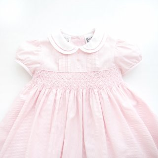 <img class='new_mark_img1' src='https://img.shop-pro.jp/img/new/icons14.gif' style='border:none;display:inline;margin:0px;padding:0px;width:auto;' />Sarah Louise - Stripy smocked dress(Pink)