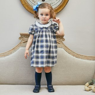 Amaia Kids - Ruby dress (Navy tartan)