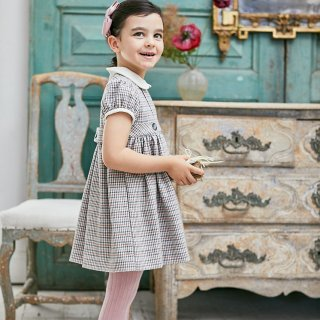 <img class='new_mark_img1' src='https://img.shop-pro.jp/img/new/icons23.gif' style='border:none;display:inline;margin:0px;padding:0px;width:auto;' />15%OFF - Amaia Kids - Cornata dress (Pink / Grey)