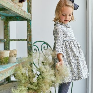 <img class='new_mark_img1' src='https://img.shop-pro.jp/img/new/icons23.gif' style='border:none;display:inline;margin:0px;padding:0px;width:auto;' />15%OFF - Amaia Kids -  Myriam dress (Liberty grey)