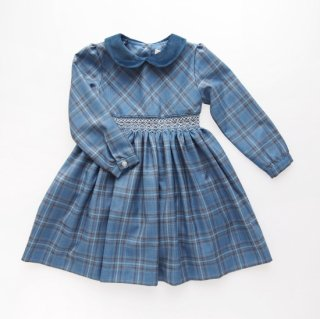 <img class='new_mark_img1' src='https://img.shop-pro.jp/img/new/icons14.gif' style='border:none;display:inline;margin:0px;padding:0px;width:auto;' />Malvi&Co. - Tartan smocked dress - Long sleeve (Blue)