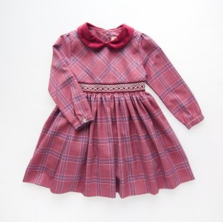 <img class='new_mark_img1' src='https://img.shop-pro.jp/img/new/icons14.gif' style='border:none;display:inline;margin:0px;padding:0px;width:auto;' />Malvi&Co. - Tartan smocked dress - Long sleeve (Raspberry)