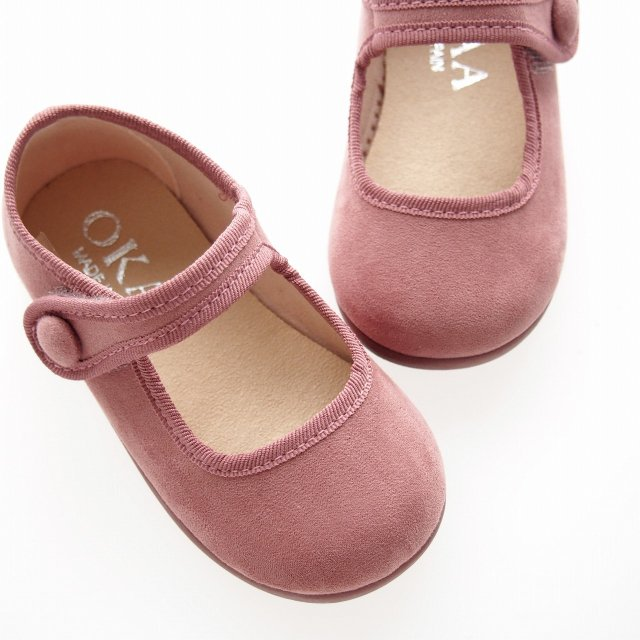 <img class='new_mark_img1' src='https://img.shop-pro.jp/img/new/icons14.gif' style='border:none;display:inline;margin:0px;padding:0px;width:auto;' />Little Mary Jane shoes with velcro strap (Iris blue/ Grey /Navy)