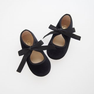 Velvet canvas angel shoes (Black)
