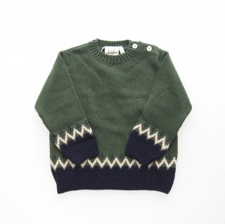 <img class='new_mark_img1' src='https://img.shop-pro.jp/img/new/icons14.gif' style='border:none;display:inline;margin:0px;padding:0px;width:auto;' />Malvi&Co. - Boy sweater (Sage green)