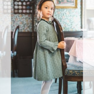 <img class='new_mark_img1' src='https://img.shop-pro.jp/img/new/icons14.gif' style='border:none;display:inline;margin:0px;padding:0px;width:auto;' />Amaia Kids -  Myriam dress (Muslin green)