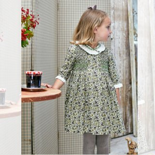 <img class='new_mark_img1' src='https://img.shop-pro.jp/img/new/icons14.gif' style='border:none;display:inline;margin:0px;padding:0px;width:auto;' />Amaia Kids -  Gooseberry dress (Liberty green)
