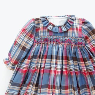 <img class='new_mark_img1' src='https://img.shop-pro.jp/img/new/icons14.gif' style='border:none;display:inline;margin:0px;padding:0px;width:auto;' />Aruca - Tartan smocked dress