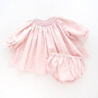 <img class='new_mark_img1' src='https://img.shop-pro.jp/img/new/icons14.gif' style='border:none;display:inline;margin:0px;padding:0px;width:auto;' />Aruca - Smocked baby set (Pink)