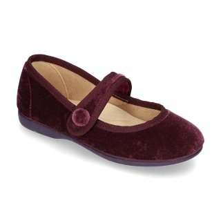 Little Mary Jane shoes with velcro strap (Purple velvet)