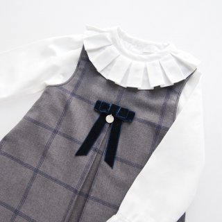 Laivicar / baby lai - Windowpane check dress & blouse set