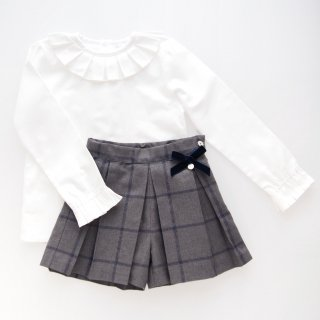 Last one!(6Y)  - 20%OFF - Laivicar / baby lai - Windowpane check shorts & blouse set