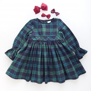 <img class='new_mark_img1' src='https://img.shop-pro.jp/img/new/icons14.gif' style='border:none;display:inline;margin:0px;padding:0px;width:auto;' />Laivicar / baby lai - Navy & Green Tartan dress