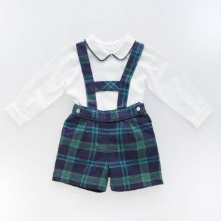 <img class='new_mark_img1' src='https://img.shop-pro.jp/img/new/icons14.gif' style='border:none;display:inline;margin:0px;padding:0px;width:auto;' />Laivicar / baby lai - Navy & Green Tartan shorts & shirt set