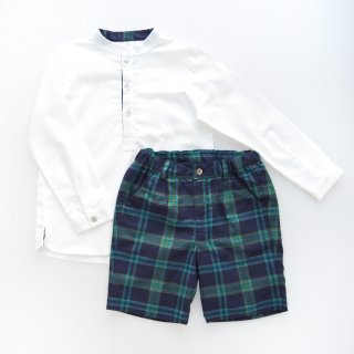 <img class='new_mark_img1' src='https://img.shop-pro.jp/img/new/icons14.gif' style='border:none;display:inline;margin:0px;padding:0px;width:auto;' />Laivicar / baby lai - Navy & Green Tartan shorts & shirt set