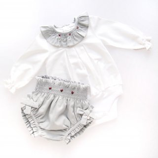<img class='new_mark_img1' src='https://img.shop-pro.jp/img/new/icons14.gif' style='border:none;display:inline;margin:0px;padding:0px;width:auto;' />Laivicar / baby lai - Embroidery collar body/ bloomer set