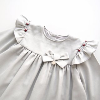 Laivicar / baby lai - Embroidered shoulder frill dress