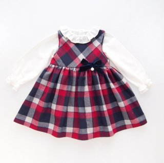 <img class='new_mark_img1' src='https://img.shop-pro.jp/img/new/icons14.gif' style='border:none;display:inline;margin:0px;padding:0px;width:auto;' />Laivicar / baby lai - Navy & Red Tartan dress set