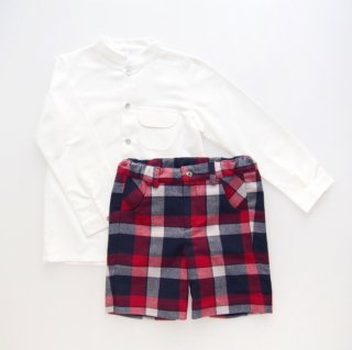 <img class='new_mark_img1' src='https://img.shop-pro.jp/img/new/icons14.gif' style='border:none;display:inline;margin:0px;padding:0px;width:auto;' />Laivicar / baby lai - Navy & Red Tartan shorts & shirt set