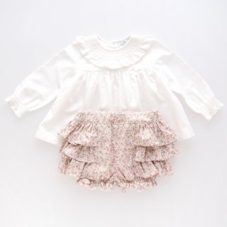 <img class='new_mark_img1' src='https://img.shop-pro.jp/img/new/icons14.gif' style='border:none;display:inline;margin:0px;padding:0px;width:auto;' />Laivicar / baby lai - Smocked floral bloomer & blouse set