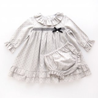 <img class='new_mark_img1' src='https://img.shop-pro.jp/img/new/icons23.gif' style='border:none;display:inline;margin:0px;padding:0px;width:auto;' />15%OFF - Laivicar / baby lai - Smocked dots dress