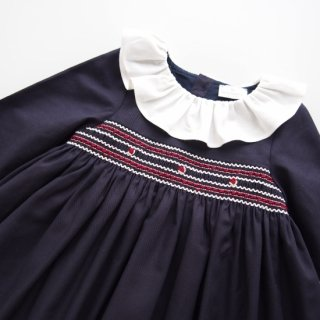 Laivicar / baby lai - Smocked elegant dress(Navy)