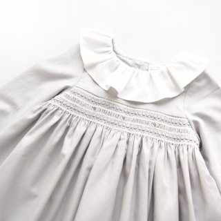 Laivicar / baby lai - Smocked elegant dress(Grey)
