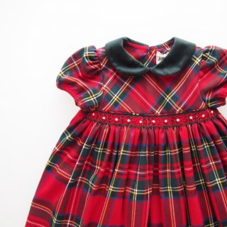 <img class='new_mark_img1' src='https://img.shop-pro.jp/img/new/icons14.gif' style='border:none;display:inline;margin:0px;padding:0px;width:auto;' />ISI Malvi&Co. - Tartan smocked dress - Puff sleeve (Red)