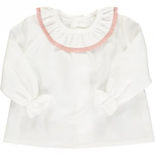 <img class='new_mark_img1' src='https://img.shop-pro.jp/img/new/icons23.gif' style='border:none;display:inline;margin:0px;padding:0px;width:auto;' />15%OFF - Amaia Kids -  Amelia blouse (White/Pink)