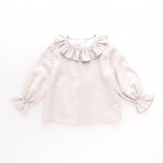 15%OFF - Amaia Kids -  Amelia blouse (Olive dots)