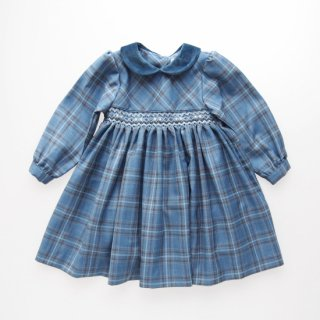 <img class='new_mark_img1' src='https://img.shop-pro.jp/img/new/icons14.gif' style='border:none;display:inline;margin:0px;padding:0px;width:auto;' />ISI Malvi&Co. - Tartan smocked dress - Long sleeve (Blue)
